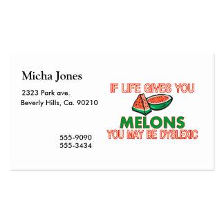 Melon Dyslexia Business Card