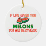 Melon Dyslexia Ornament