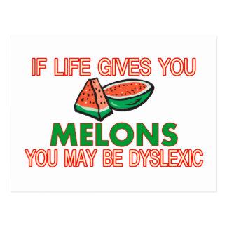 Melon Dyslexia Post Cards
