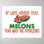 Melon Dyslexia Poster