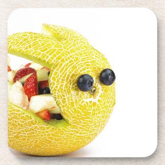 Melon Easter bunny filled with summer fruit Beverage Coaster