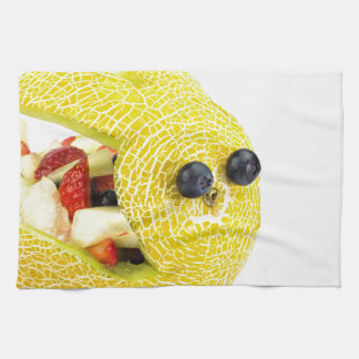 Melon Easter bunny filled with summer fruit Towel