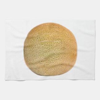 Melón entero del cantalupo toallas de mano