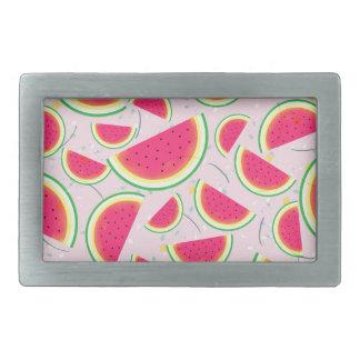 Melon Fiesta Pattern Rectangular Belt Buckle