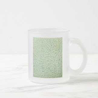 melon frosted glass coffee mug