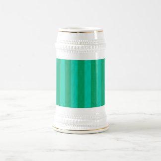 Melon & Green Stripes Beer Stein