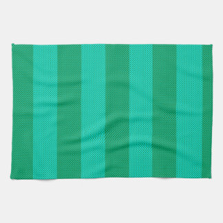 Melon & Green Stripes Hand Towel