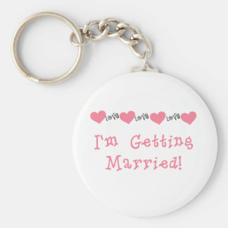 Melon Hearts I'm Getting Married Basic Round Button Keychain