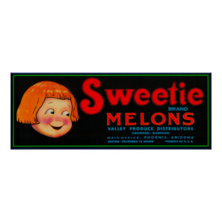 Melón LabelPhoenix, AZ del Sweetie Posters