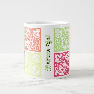 Melon Leaf Pattern Large Coffee Mug