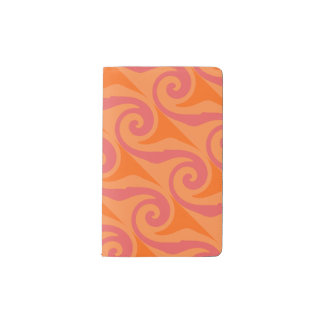 Melon mono swirl pocket moleskine notebook