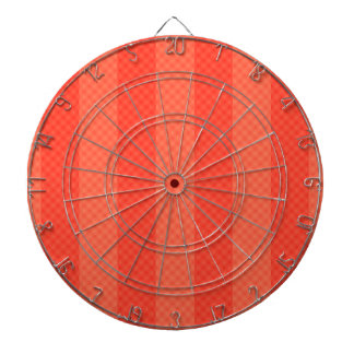 Melon Orange Stripes Dartboard With Darts