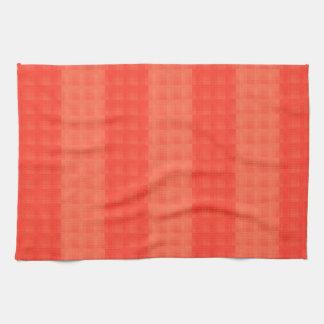 Melon Orange Stripes Hand Towels