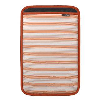 Melon Orange & White Stripes MacBook Air Sleeves