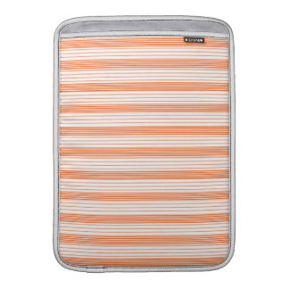 Melon Orange & White Stripes Sleeves For MacBook Air