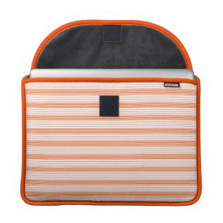 Melon Orange & White Stripes Sleeves For MacBook Pro