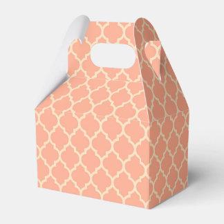 Melón - palidezca - caja rosada del favor de caja para regalo de boda