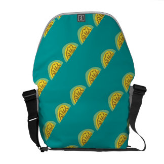 Melon pattern messenger in turquoise courier bag