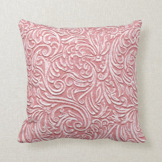 Melon Pink Vintage Tile 3D Look Kawaii Beach Home Throw Pillow