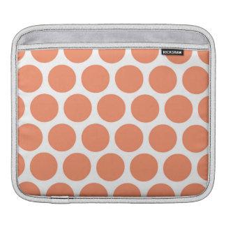 Melon Retro Colorful Modern Polka Dots iPad Sleeve