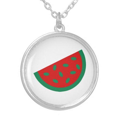 Melon Round Pendant Necklace