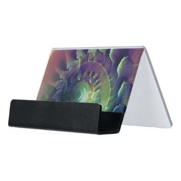 Professional Business Melon Shell Abstract Desk Business Card Holder