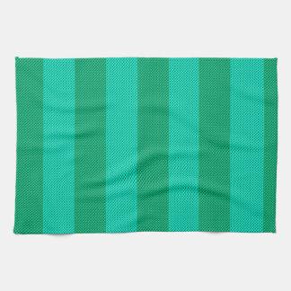 Melón y rayas verdes toallas de cocina