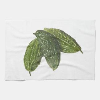 Melones amargos toalla de cocina