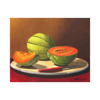 Melones de Charentais Impresión En Lienzo