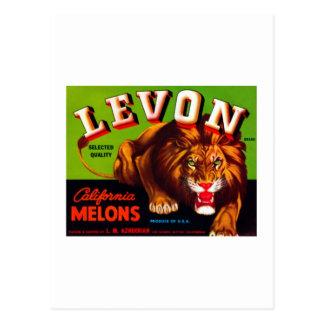 Melones de Levon California Tarjetas Postales
