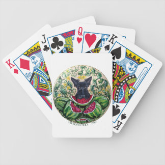 Melones de Terrier del escocés Baraja Cartas De Poker