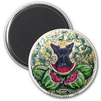 Melones de Terrier del escocés Imán Redondo 5 Cm