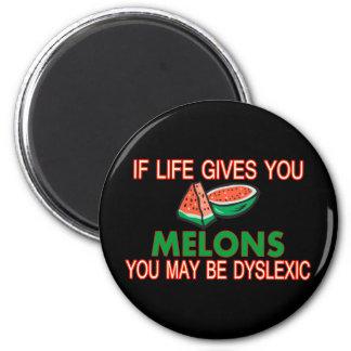 Melones del disléxico imán redondo 5 cm