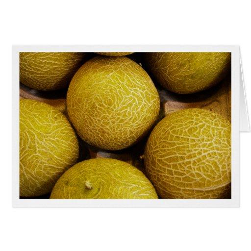 Melones en el mercado callejero de Burough Tarjeta De Felicitación