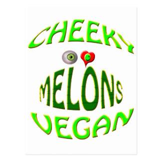 melones frescos del amor del vegano i postales
