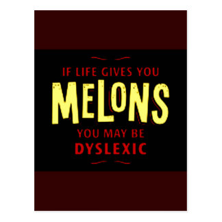 Melones Tarjeta Postal