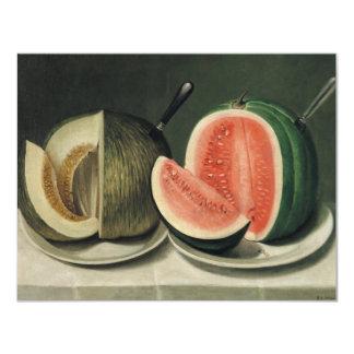 """Melons"" art custom invitations"