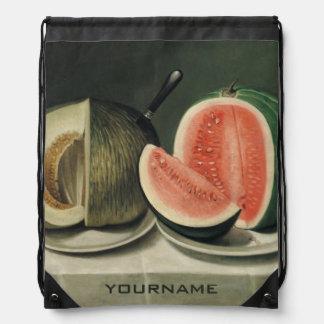 """Melons"" custom backpack"
