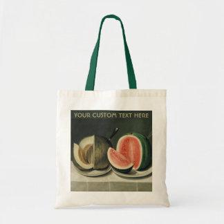 """Melons"" custom tote bags"