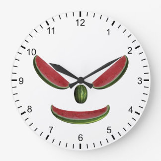 Melons Face Large Clock