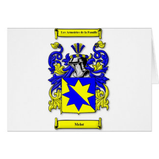Melot Coat of Arms Card