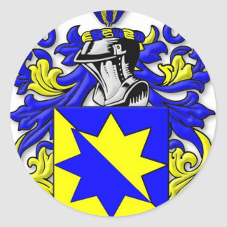 Melot Coat of Arms Classic Round Sticker