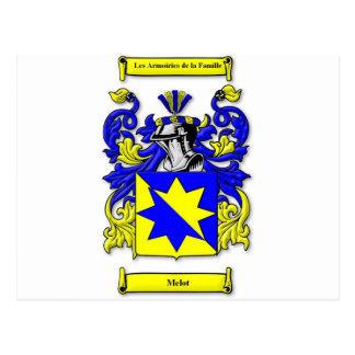 Melot Coat of Arms Postcard
