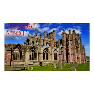 melrose abbey posters