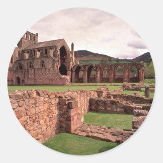 Melrose Abbey, Scotland Classic Round Sticker