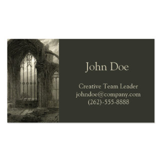 Melrose Abbey Scotland Window Medieval Card Ruins Double-Sided Standard Business Cards (Pack Of 100)
