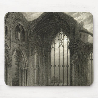 Melrose Abbey Scotland Window Medieval Ruins Mouse Pad