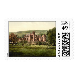 Melrose Abbey, Scottish Borders, Scotland Stamps
