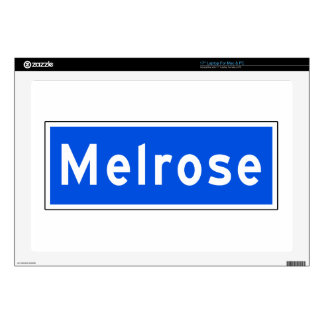 Melrose Avenue, Los Angeles, CA Street Sign Laptop Decal