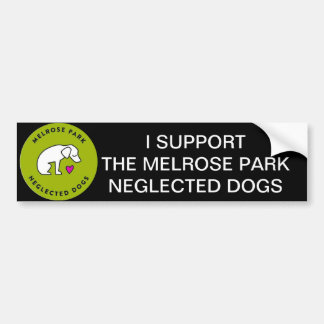 Melrose Park Neglected Dogs Houston, TX Bumper Sticker